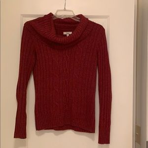 Bass Cowl Neck Cable Sweater